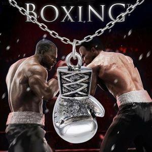 Small Silver Boxing Glove Pendant